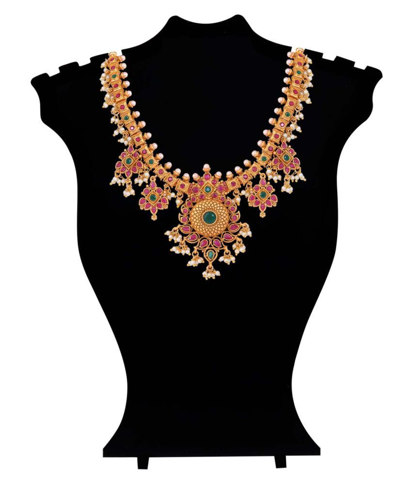 Jewlot 21K Rose Gold Plated Swaga Necklace Set for Women and Girls