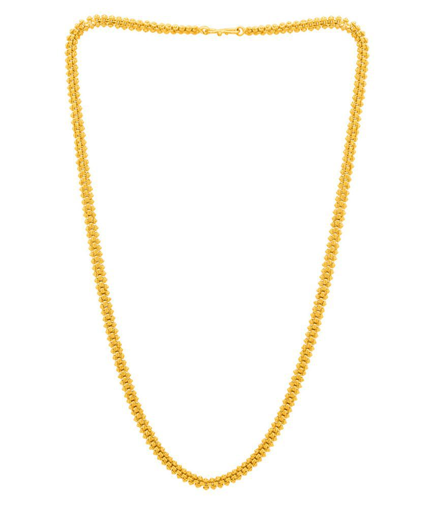 DARE by Voylla Solid Brass Linked Chain