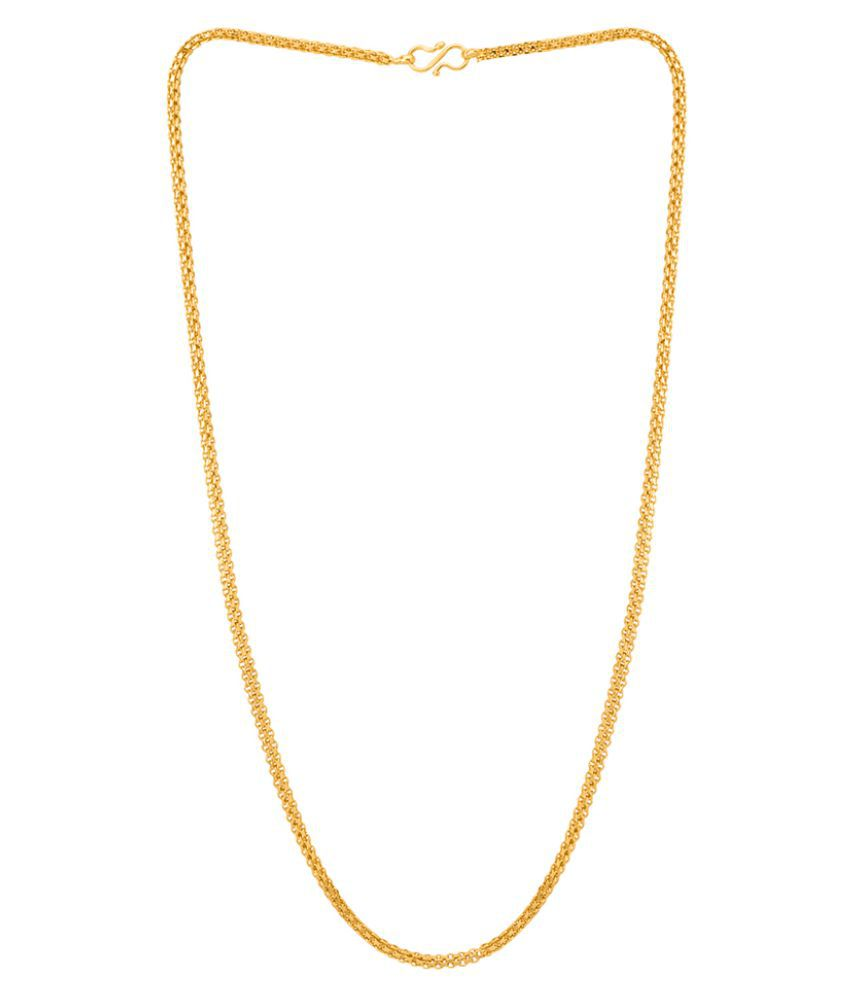 Dare by Voylla Yellow Gold Plated Link Chain For Men