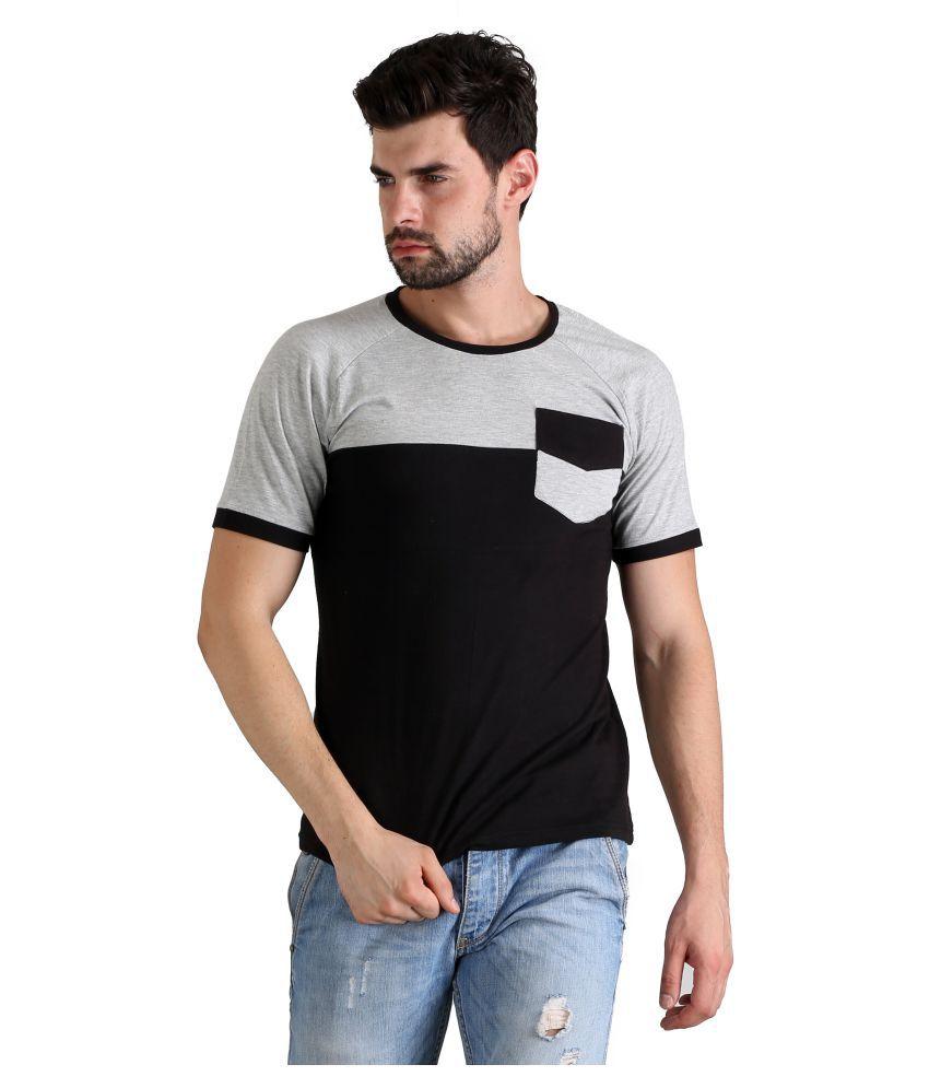 FLINGR Multi Round T-Shirt Pack of 1