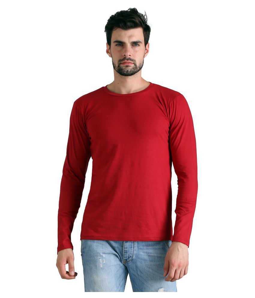 FLINGR Red Round T-Shirt Pack of 1