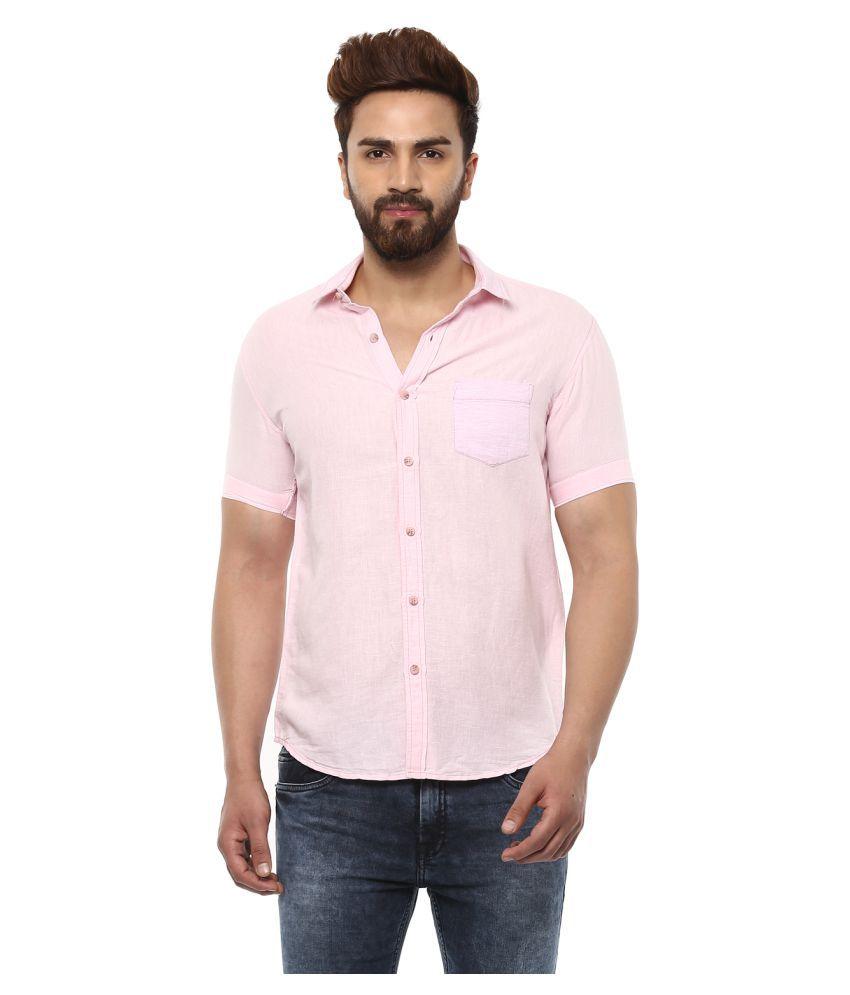 Mufti Pink Slim Fit Shirt