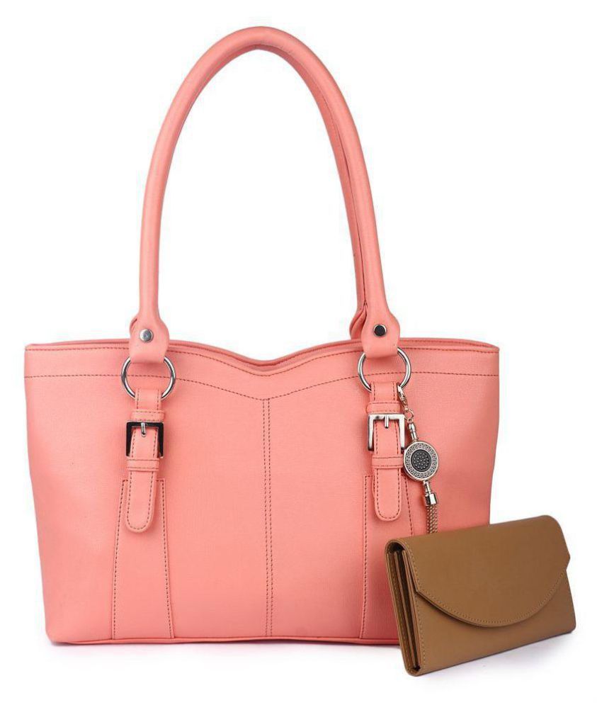 Women marks Pink Faux Leather Combo