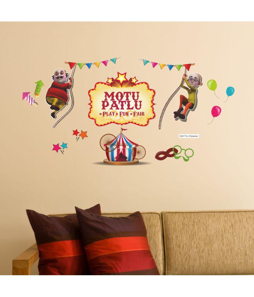 Asian Paints Motu Patlu Play Fun Fair Vinyl 44 20x85 16cm