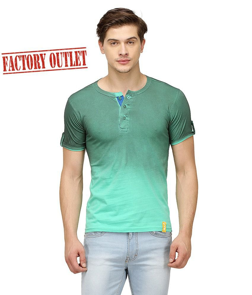 Campus Sutra Multi Henley T Shirt