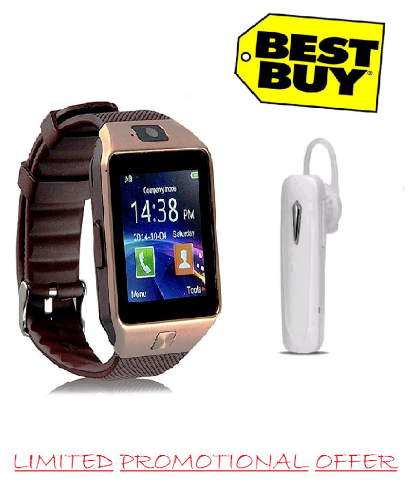 bb76b827b1d S.L.G combo free bluetooth headset with dz09 bluetooth Smart Watches -  Wearable   Smartwatches Online at Low Prices