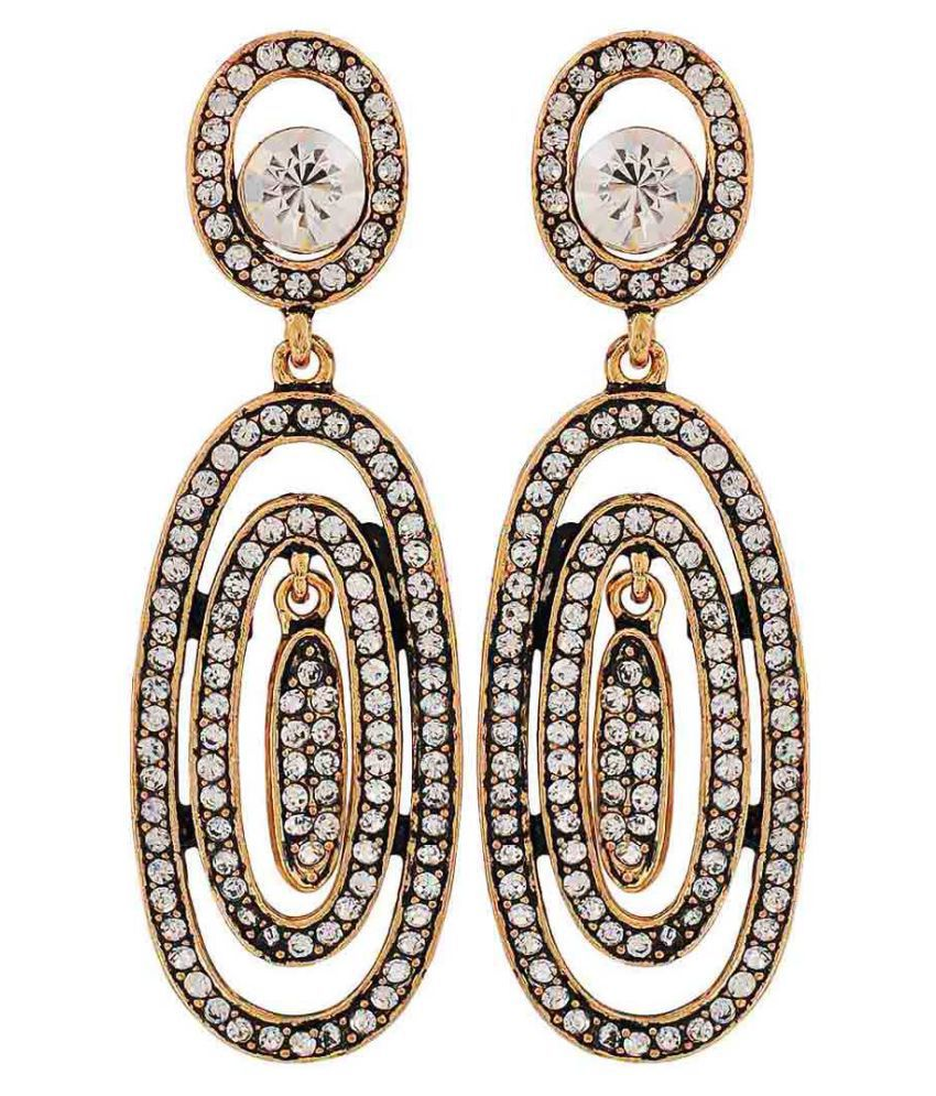 Maayra Cocktail Classic Earrings Bronze Dangler Drop Party Jewellery