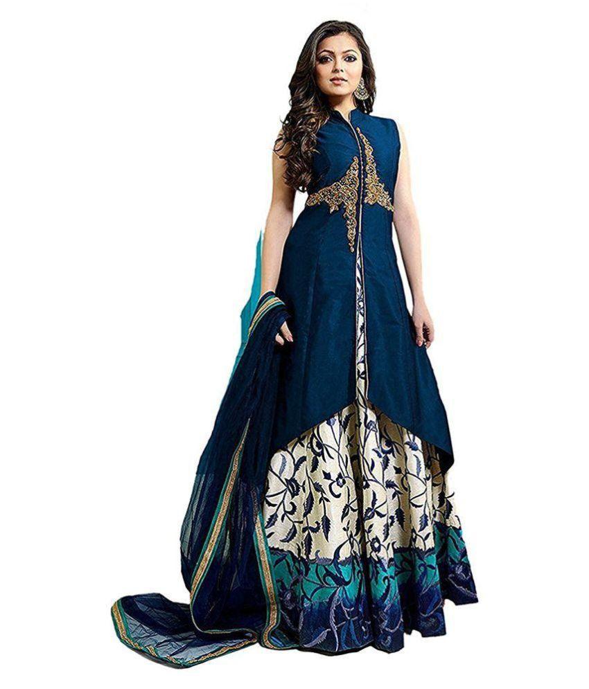 Limbudi creation Silk Blue Gown