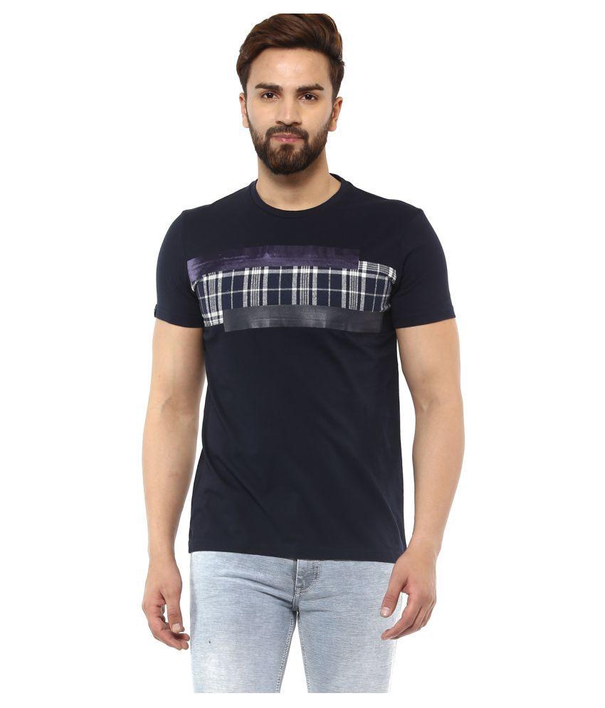 Mufti Navy Round T-Shirt Pack of 1