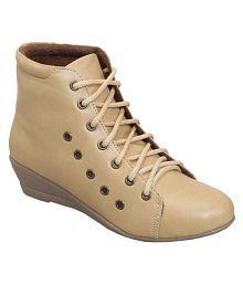 Catbird Beige Ankle Length Bootie Boots