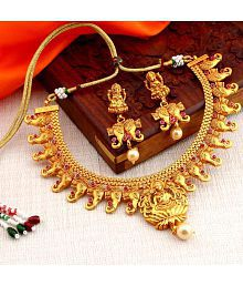 Sukkhi Classy Bahubali Inspired Gold Plated Necklace Set for women