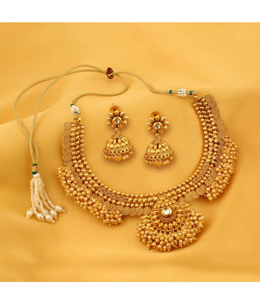 sukkhi astonish jalebi design gold plated choker necklace. Black Bedroom Furniture Sets. Home Design Ideas