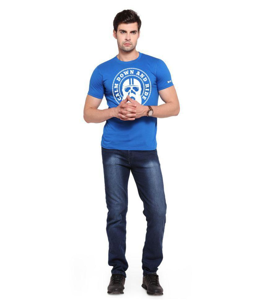 Zorchee Blue Round T-Shirt Pack of 1