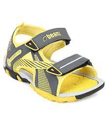 Beanz Yellow Colour Double Fastner Beach Wear Floater Sandle Kids Footwear
