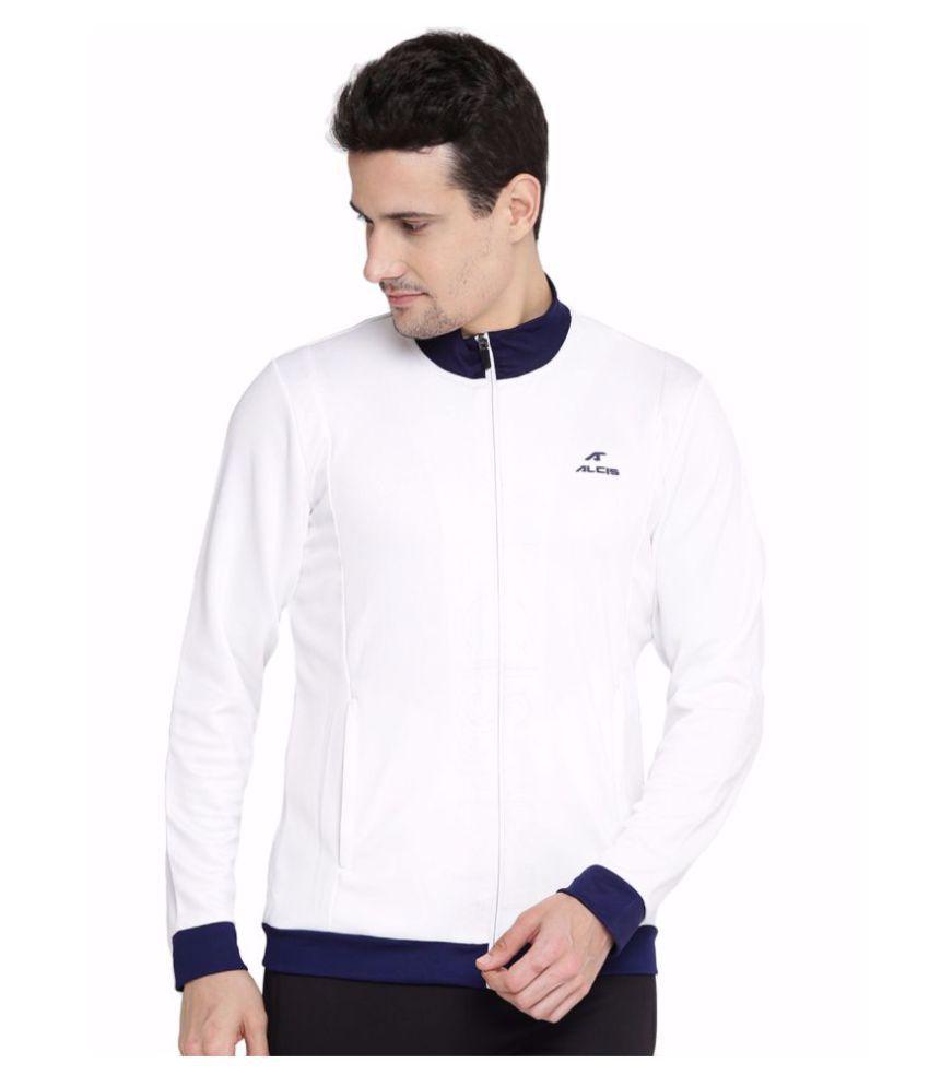 Alcis Men White Printed Jacket
