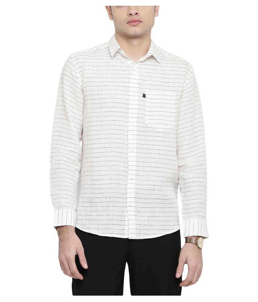 Black Orange White Regular Fit Shirt