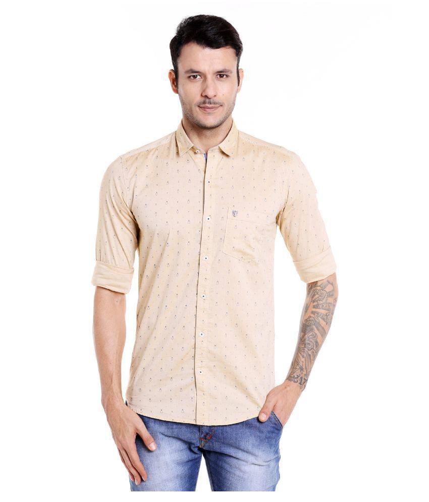 DONEAR NXG YELLOW Slim Fit Shirt