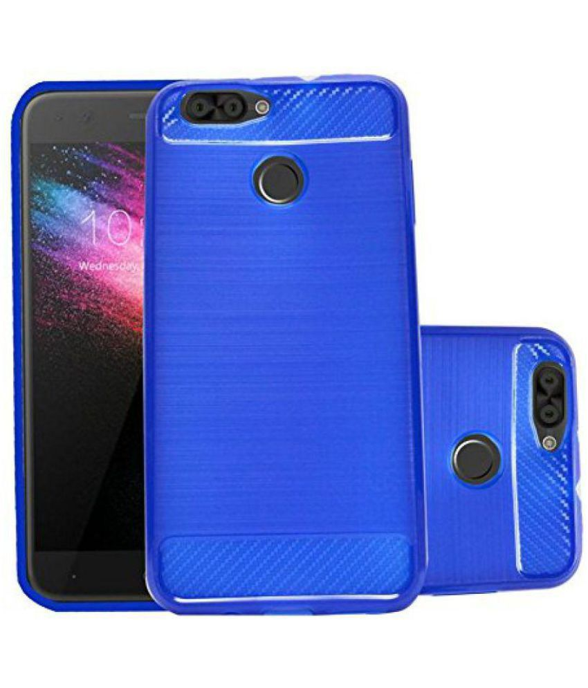 49a2be9b411 Infocus Snap 4 Shock Proof Case ECellStreet - Blue - Plain Back Covers  Online at Low Prices