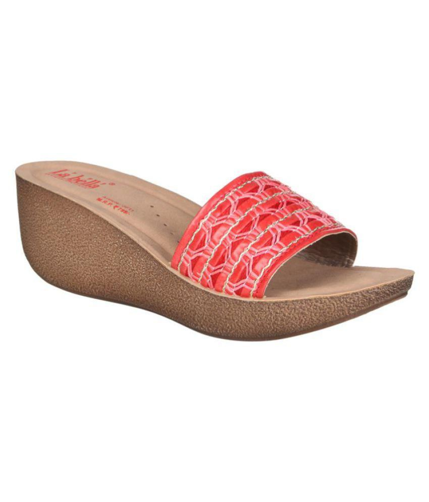 99ac9d955 La Bella Red Wedges Heels Price in India- Buy La Bella Red Wedges Heels  Online at Snapdeal