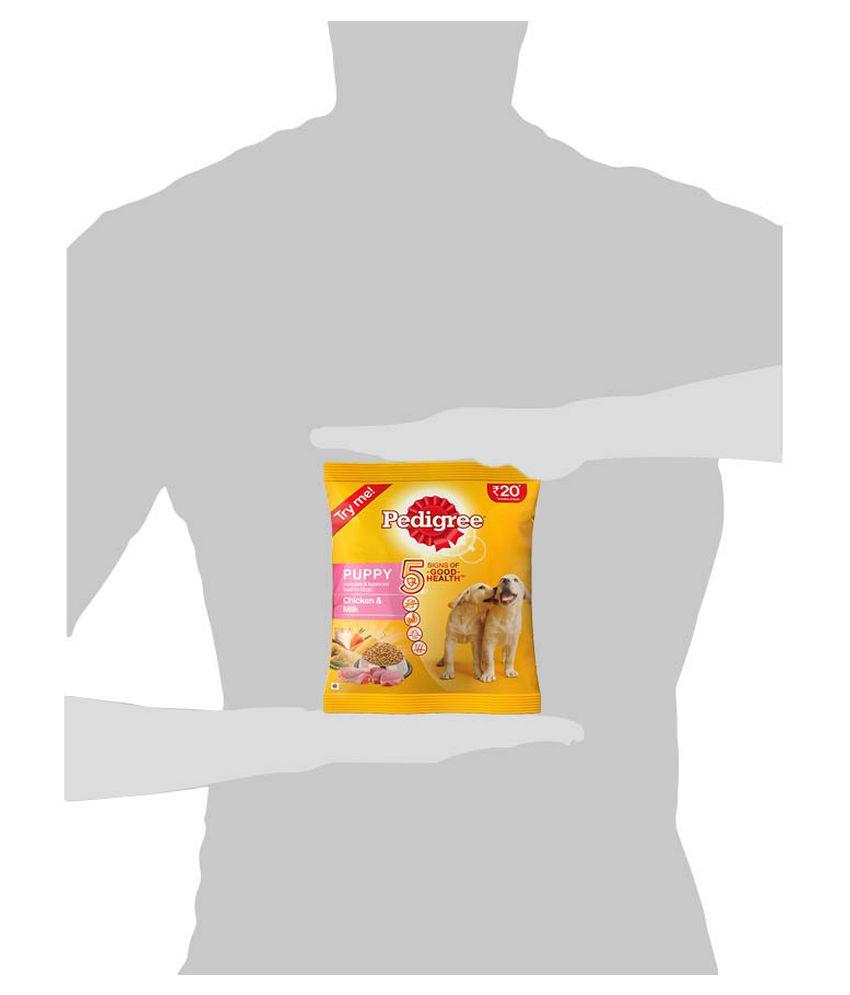 Pedigree Puppy Dog Food Chicken Milk 100 Gm Pouch Pack Of 5