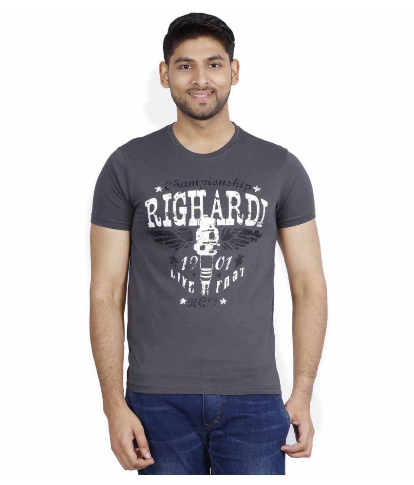 RIGHARDI Grey Round T-Shirt Pack of 1