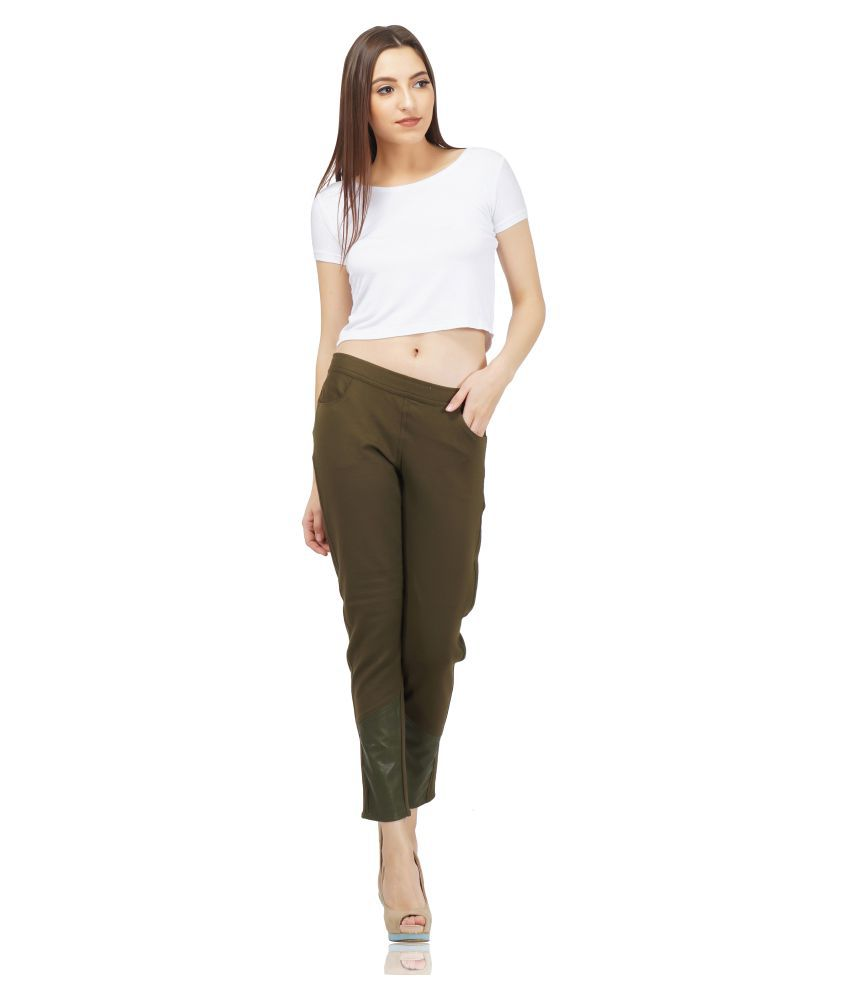 saintgauge Viscose Jeggings - Khaki