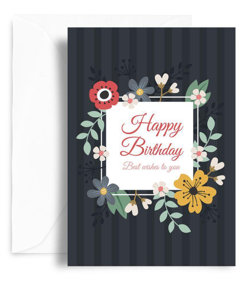 Kaarti Happy Birthday Greeting Card Sk0452 Buy Online At Best