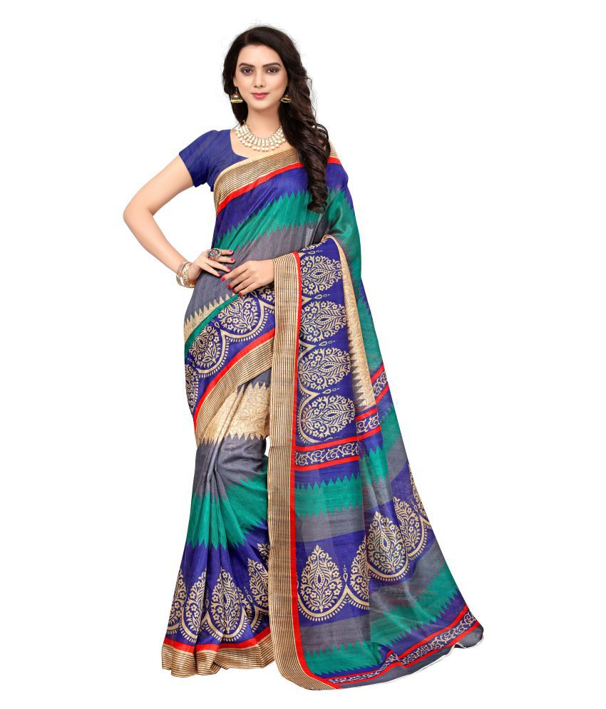 Swastik Feb Multicoloured Bhagalpuri Silk Saree