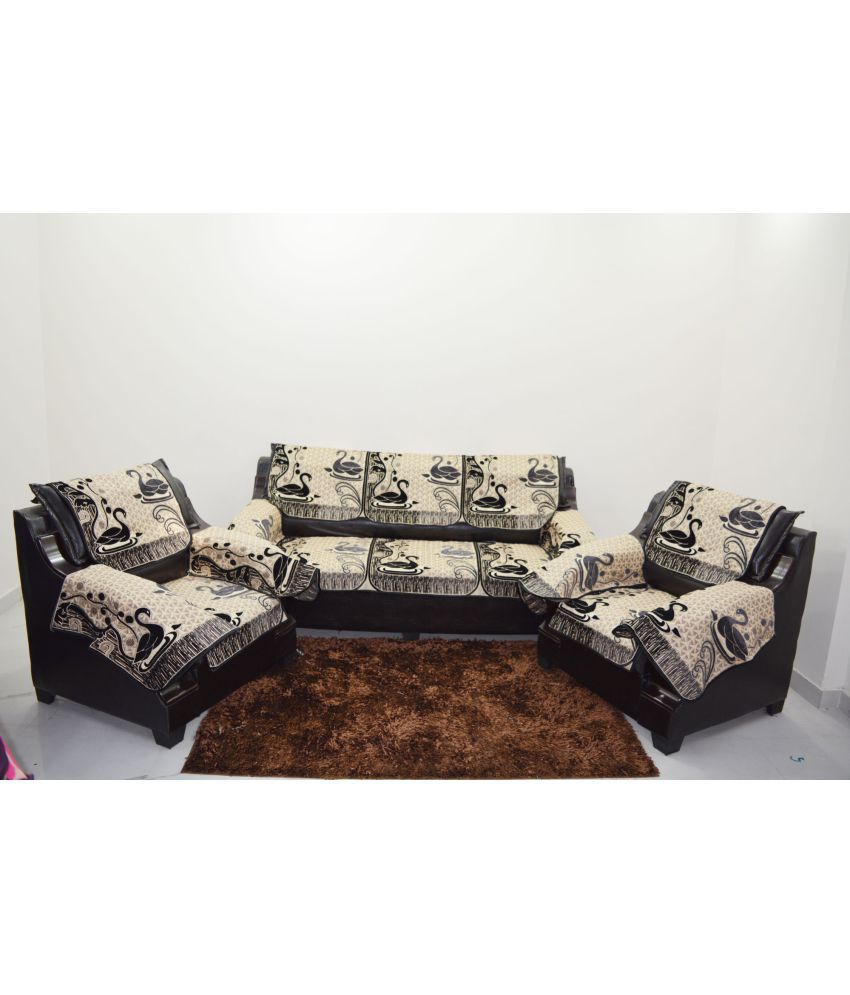 Terrific A P Handloom 5 Seater Jacquard Set Of 12 Sofa Cover Set Pabps2019 Chair Design Images Pabps2019Com