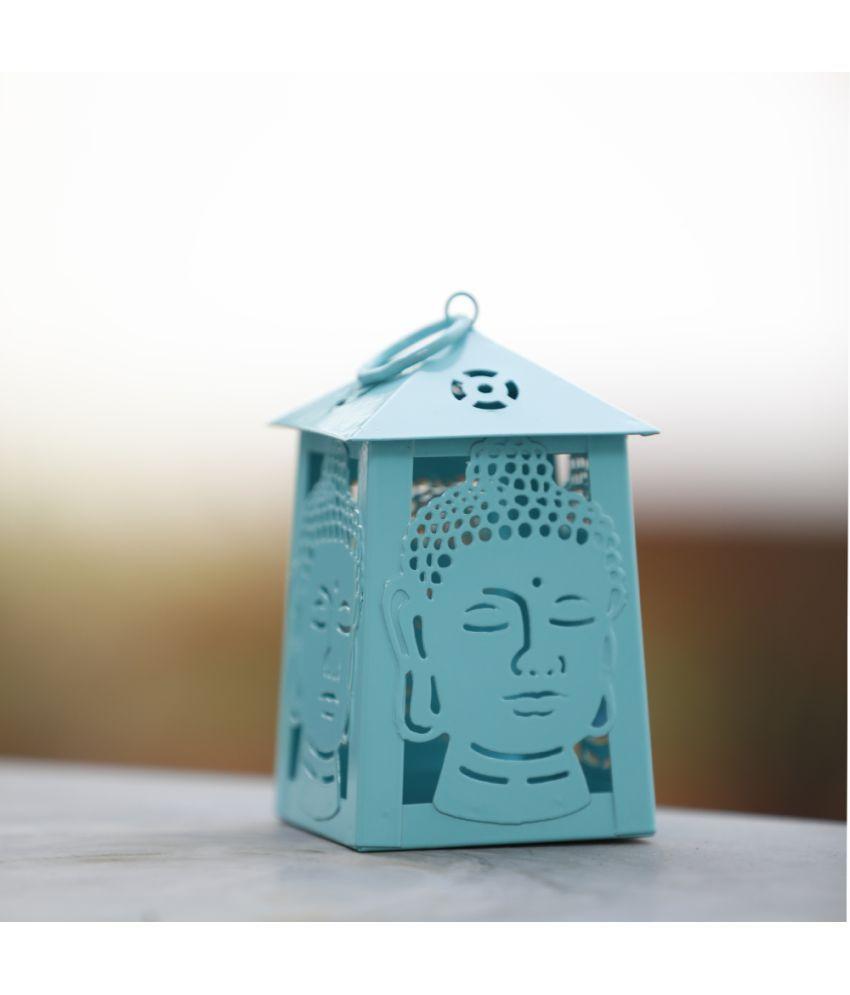 Deziworkz Turquoise Buddha Table Top Lanterns 12 - Pack of 1