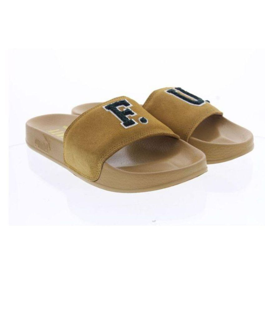 9f218c219da5 Puma Men Leadcat Fenty FU Brown Slide Flip flop Price in India- Buy Puma Men  Leadcat Fenty FU Brown Slide Flip flop Online at Snapdeal