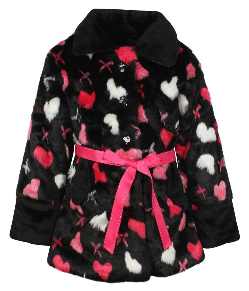 Cutecumber Girls Partywear Faux Fur Winter Jacket