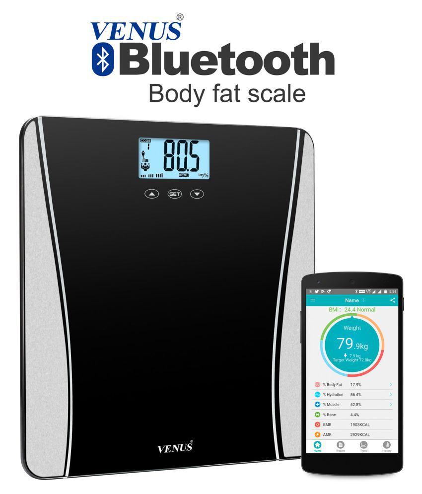 Venus EPS-123-Bluetooth BFS Digital Electronic Personal Body Health Fitness Check up Weighing Scale