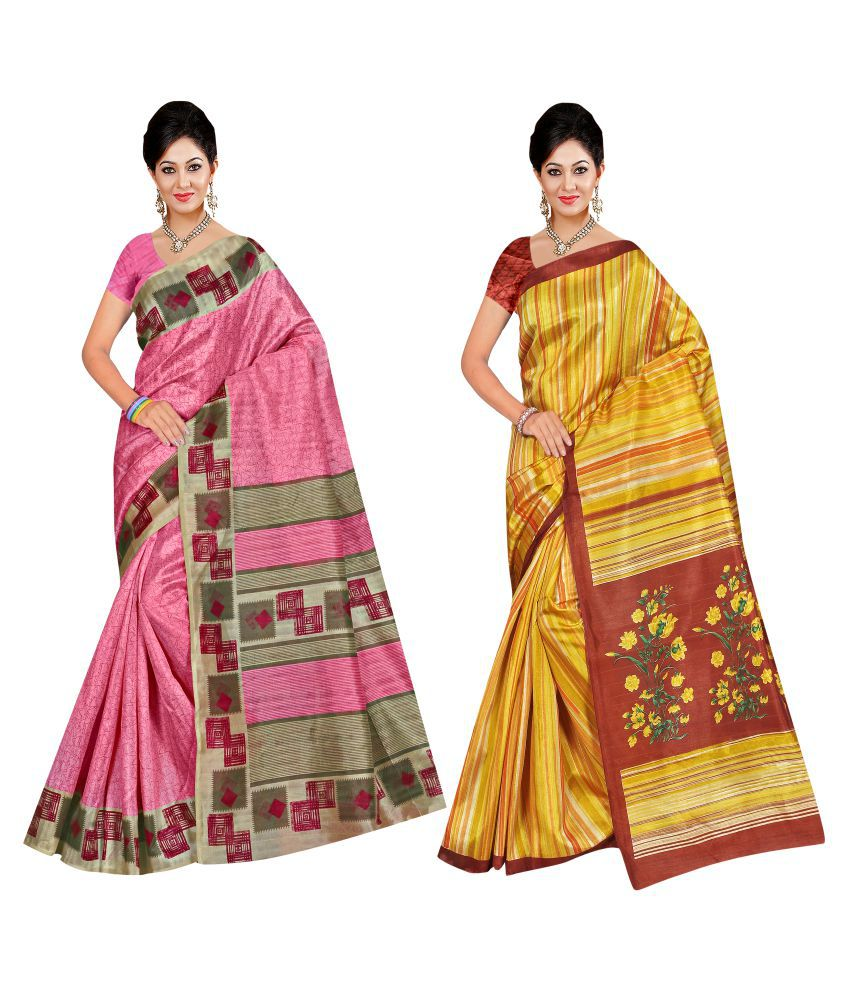 Winza Designer Multicoloured Cotton Silk Saree