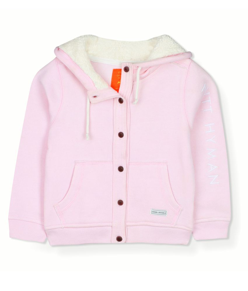 Cherry Crumble Button-Front Hoodie