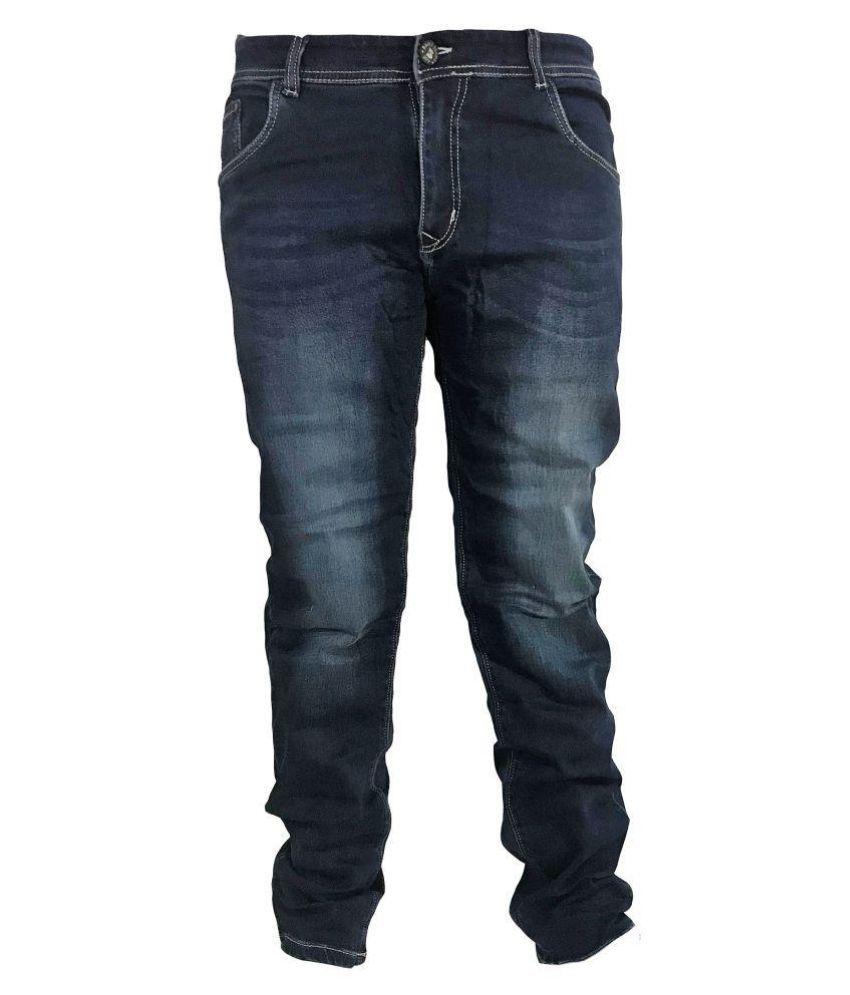 Broz Blue Regular Fit Jeans