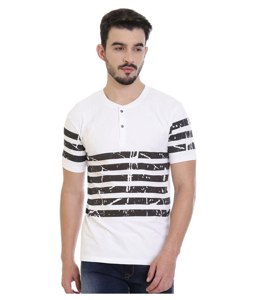 ROCX White Henley T-Shirt