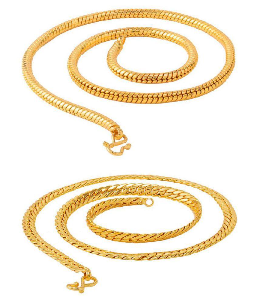 Voylla Pack of 2 Snake Chains for Men