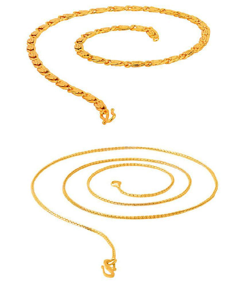 Voylla Radiant Gold Tone Set of 2 Chains