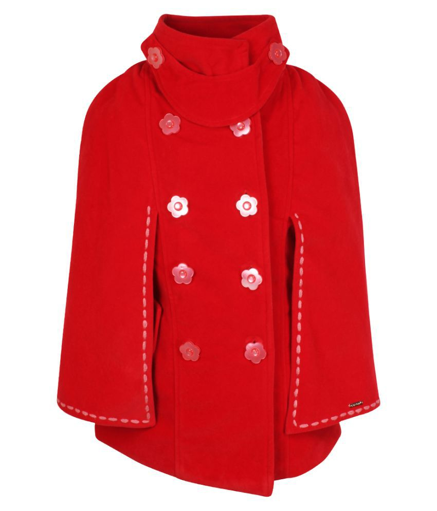 Cutecumber Girls Partywear Coat Fabric Winter Jacket