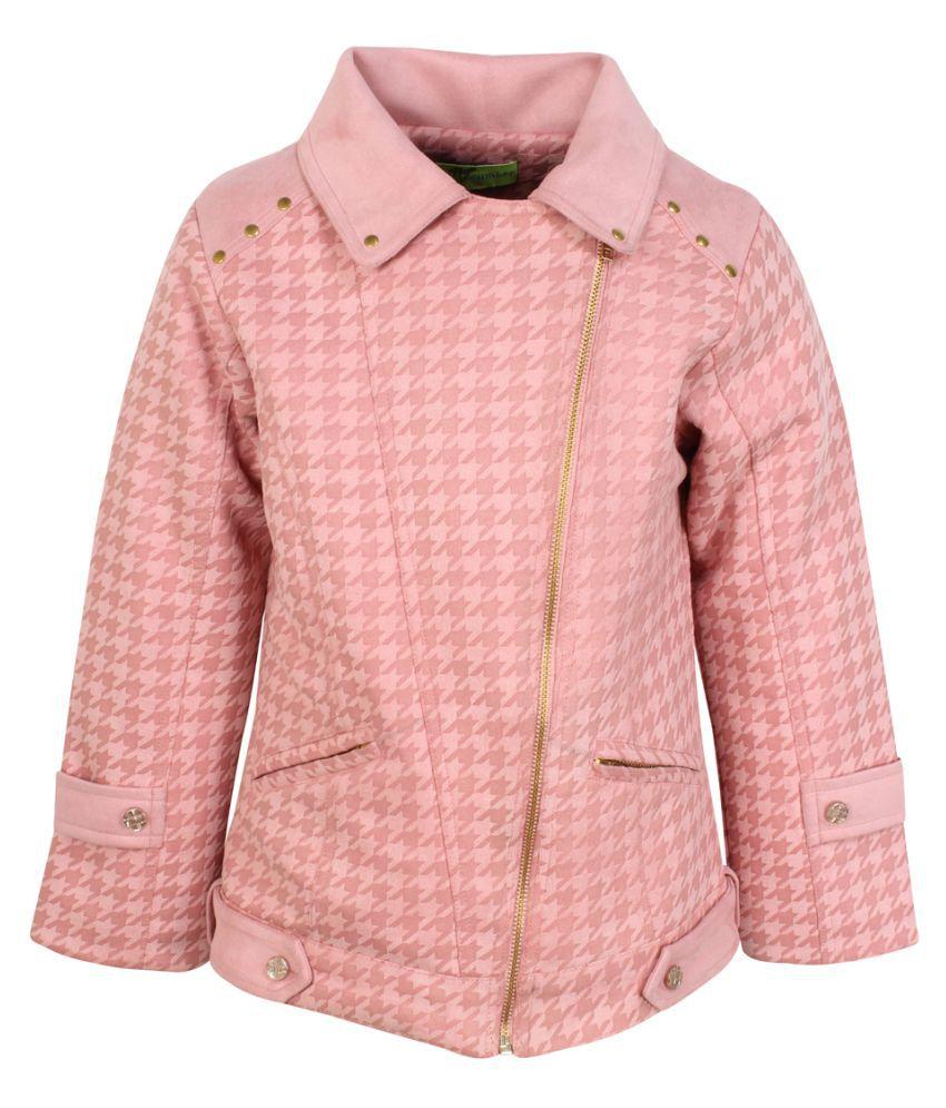 Cutecumber Girls Partywear Suede Winter Jacket