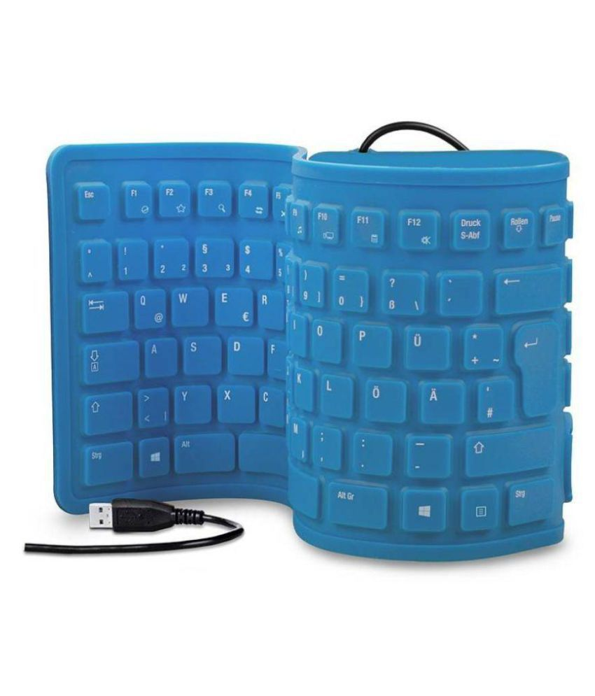 FKU 103 Keys Silicone Flexible Blue USB Wired Desktop Keyboard - Buy ...