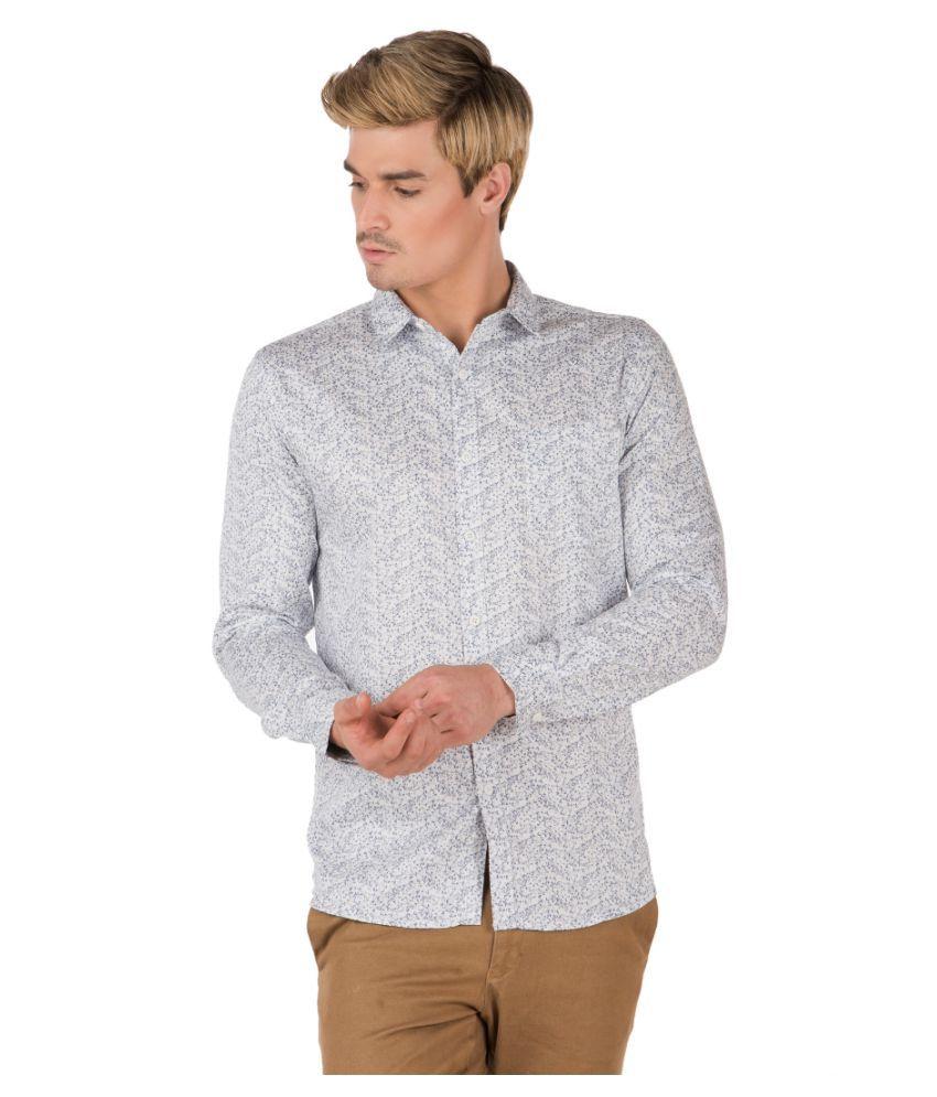 Fast n Fashion White Slim Fit Shirt