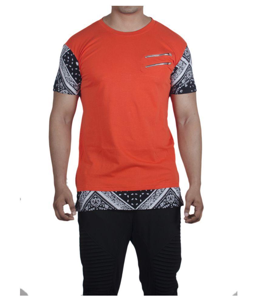 Selenas Orange Round T-Shirt Pack of 1