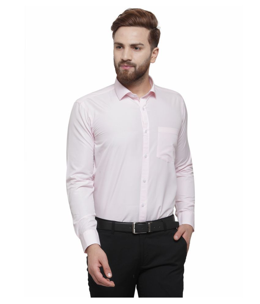RG Designers Pink Slim Fit Formal Shirt
