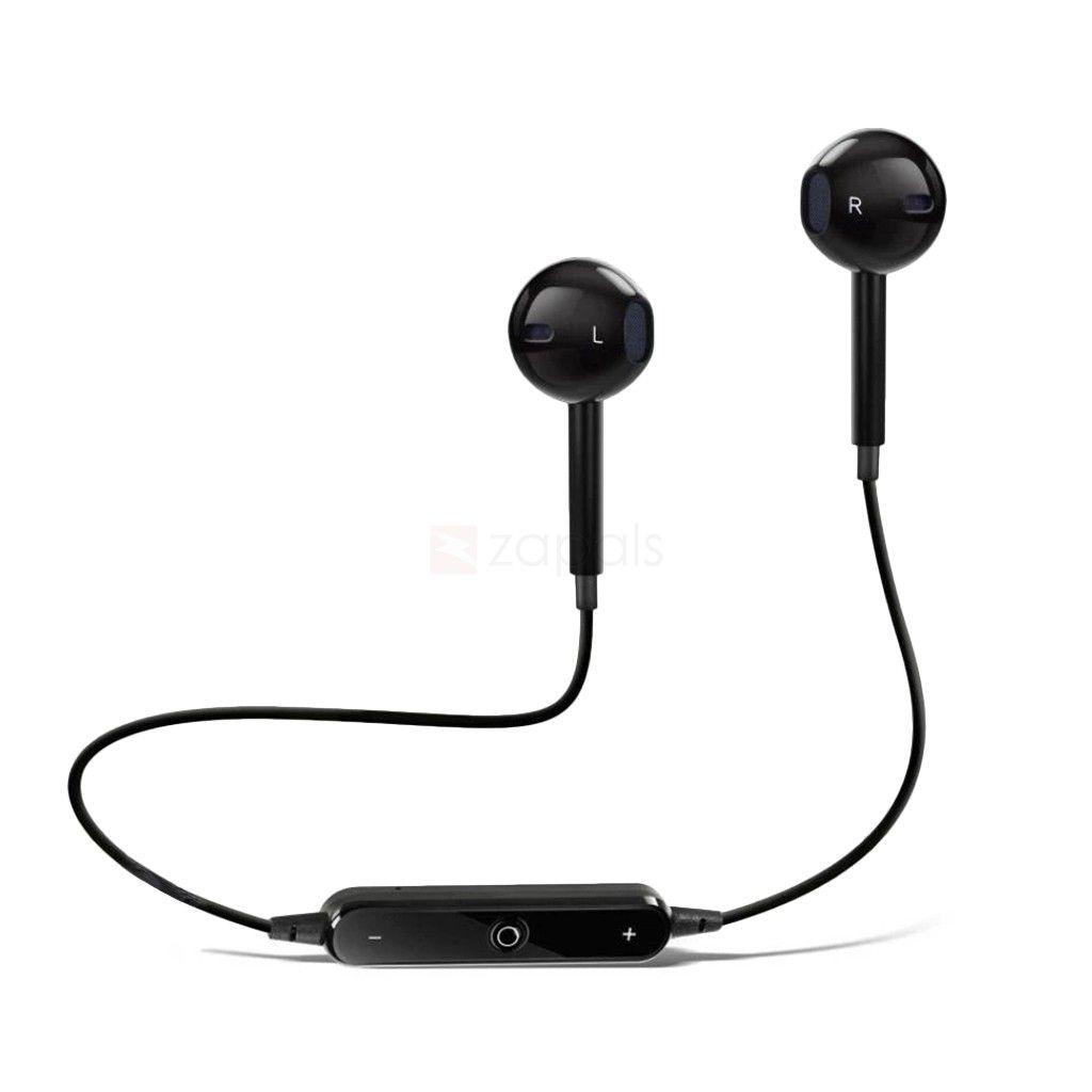 SYL ZTE Blade Q Maxi   Wired Bluetooth Headphone Black