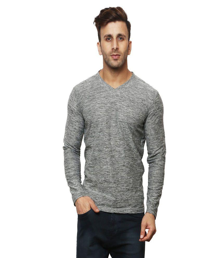 Leana Grey V-Neck T-Shirt Pack of 1