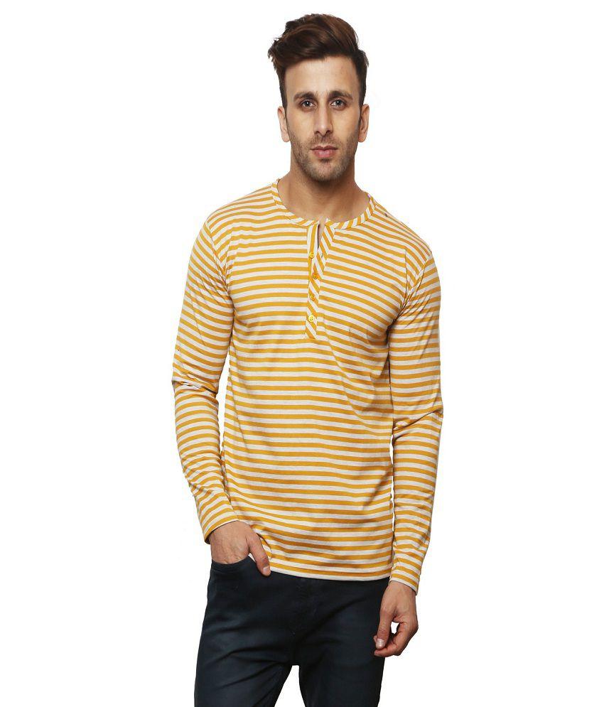 Leana Yellow Henley T-Shirt Pack of 1