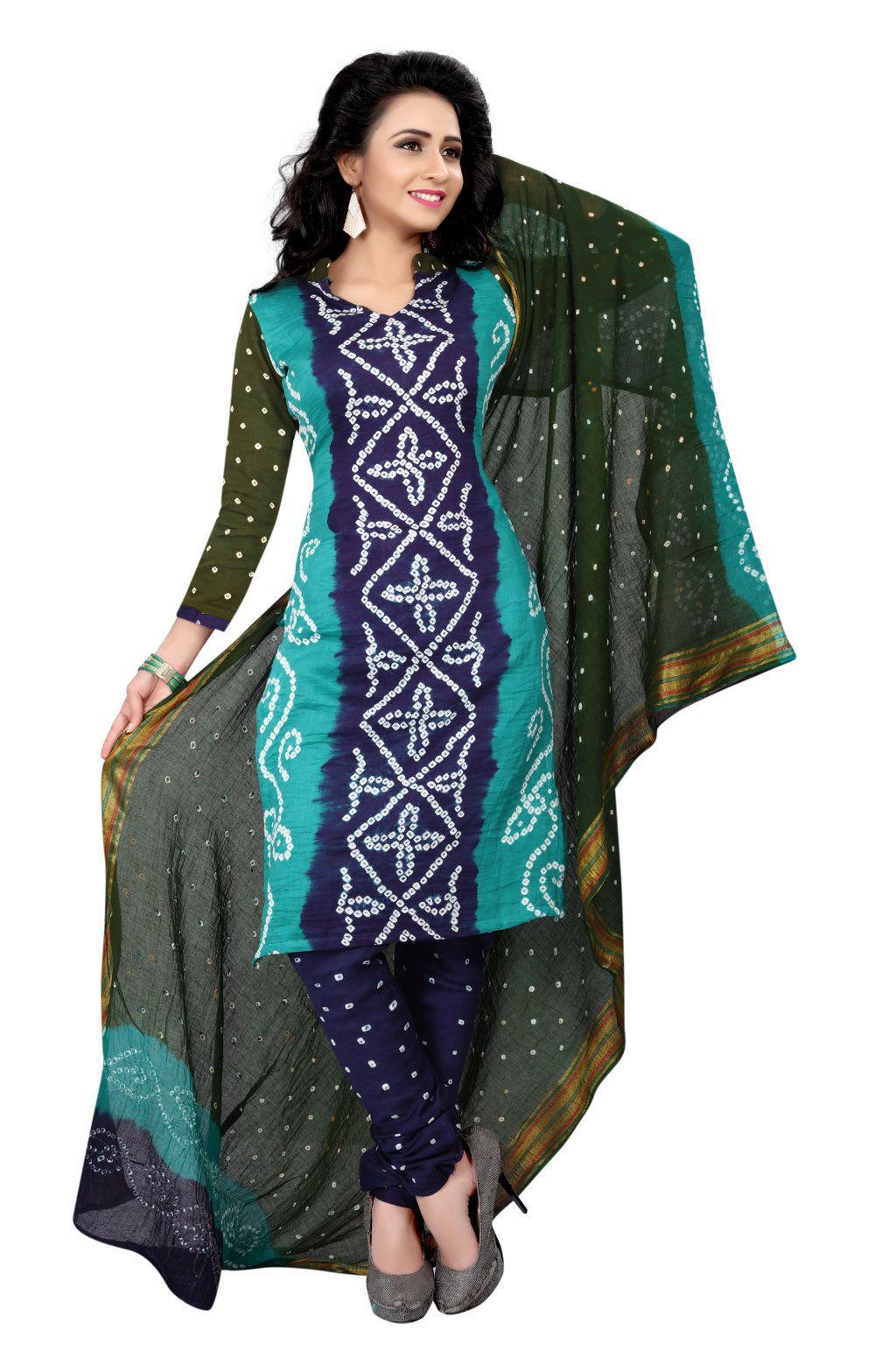 Nirja Creation Multicoloured Cotton Silk Dress Material