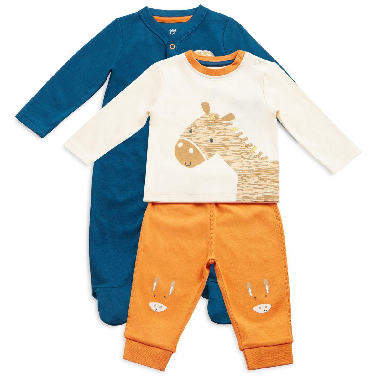 9c3ec7cf0721 FS MiniKlub Baby Boy Multi Color Pack of Sleepsuit